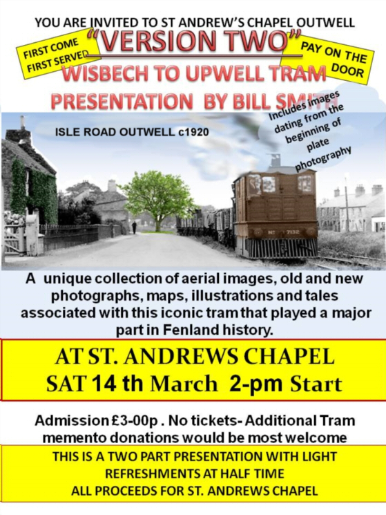 Wisbech to upwell tram presentation poster