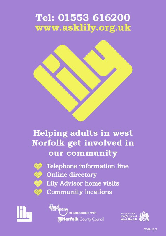 Ask Lily Helping Adults in west Norfolk get involved with our community
